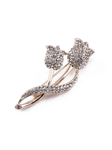 new 2018 2018 2018 2018 2018 2018 2018 2018 Rose Gold Plated Crystals Brooch