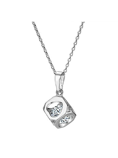 Fashion Hollow Cube Zircon Necklace