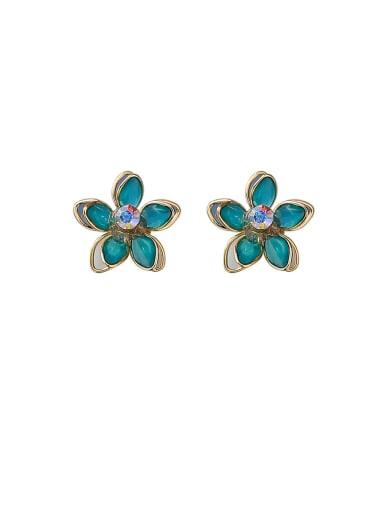Alloy With Acrylic Cute Colour Lotus Stud Earrings
