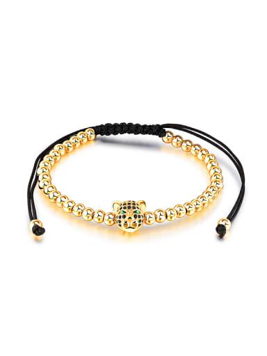 Fashion Leopard Head Beads Bracelet