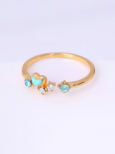 Exquisite Open Design Colorful Zircon Ring