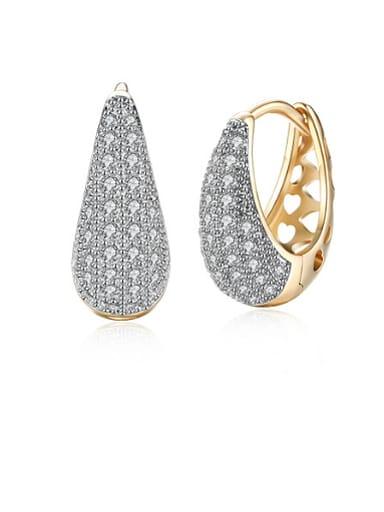 Women 18K Gold Rhinestone stud Earring