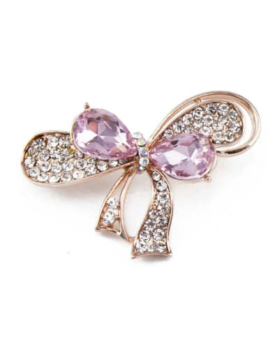 Bowknot Shaped Crystals Brooch