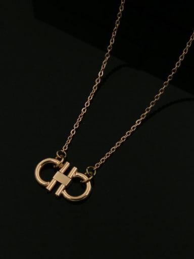 Geometric Simple Western Style Titanium Necklace