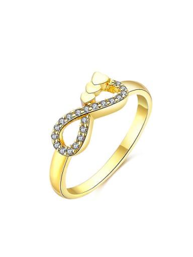 Exquisite Figure Eight Shaped Zircon Women Ring