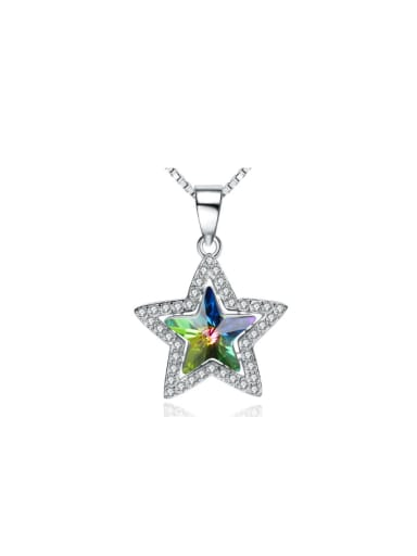 Star Colorful Crystal Micro Pave Women Pendant