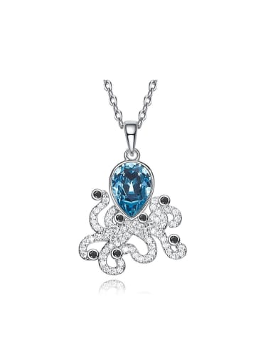 Fashion Swarovski Crystal Zircon Octopus Necklace