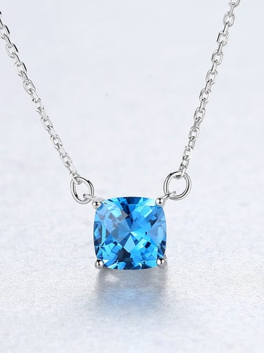 925 Sterling Silver With Delicate Square Necklaces