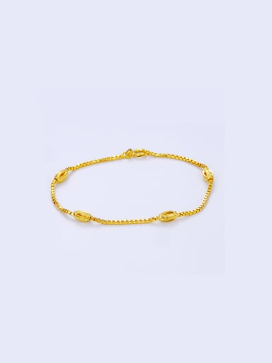 Copper Alloy 23K Gold Plated Simple Bracelet