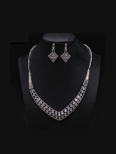 Wedding Party Luxury Two Pieces Jewelry Set