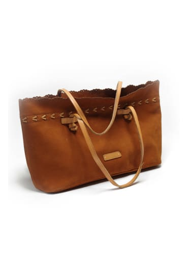 First layer cowhide vintage teto handbag