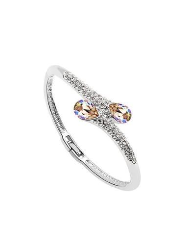 Fashion Swarovski Crystals Alloy Bangle
