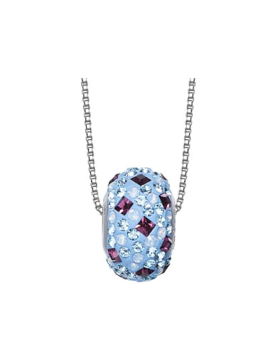 Simple Oblate Bead Swarovski Crystals Necklace