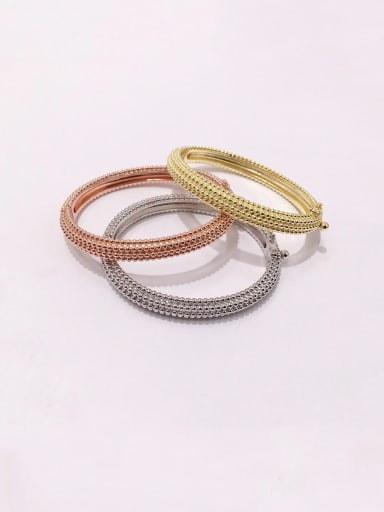 Titanium With Gold Plated Personality Irregular Bangles