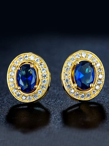 Round Shaped Zircon Cluster earring