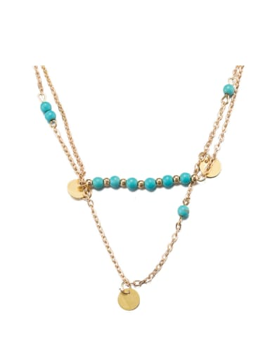 Personality Women 18K Gold Necklace