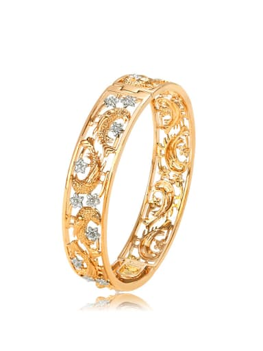 Copper Alloy 18K Gold Plated Classical Magpie Bangle