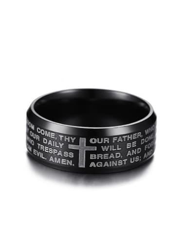 Exquisite Black Gun Plated Titanium Ring