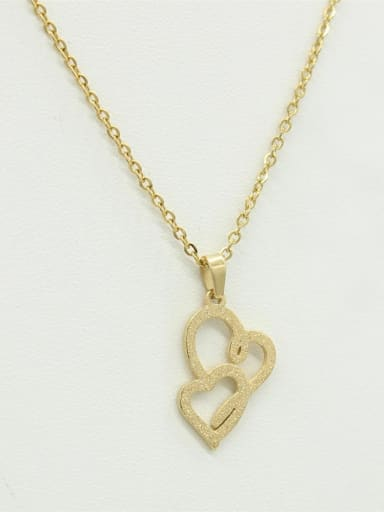 Korean Style Double Hearts Necklace