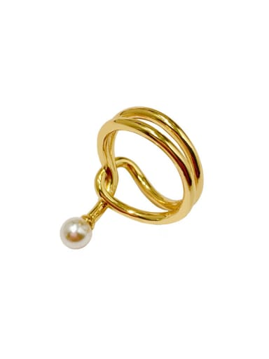 Copper With Gold Plated Simplistic Irregular Band Rings