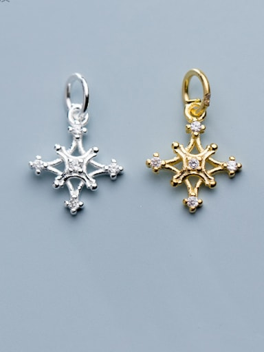 925 Sterling Silver With Cubic Zirconia  Fashion Cross Charms