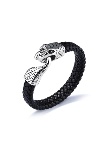Personalized Woven Artificial Leather Snake Bracelet