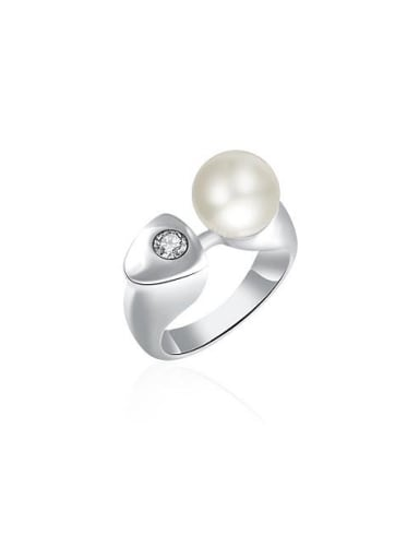 Personality Big Artificial Pearl Women Ring