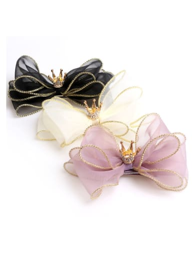 Kid's Hair Accessories: children crown organza bow hairpin