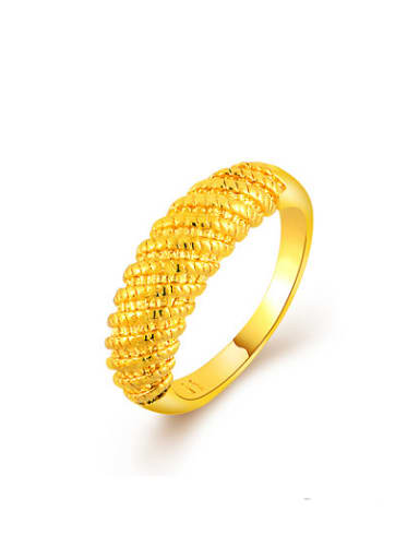Unisex Luxury Geometric Shaped Gold Plated Copper Ring
