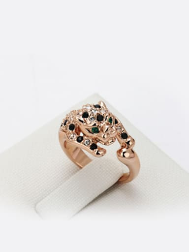 Fashion Leopard Rose Gold Plated Ring