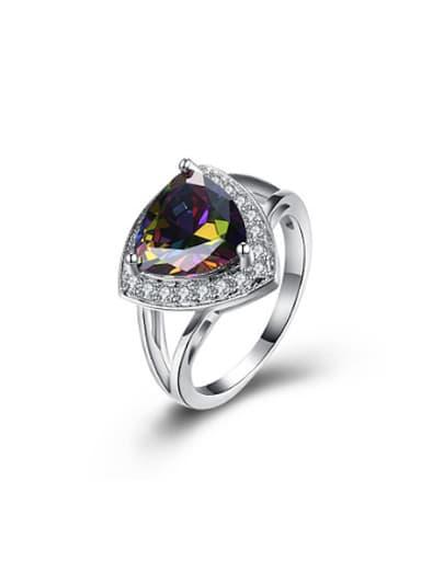 Fashion Triangle Zircon Women Ring