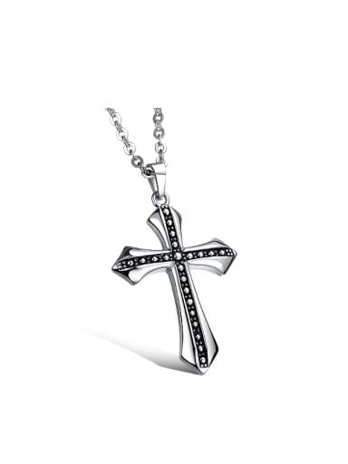 Personalized Cross Pendant Titanium Necklace