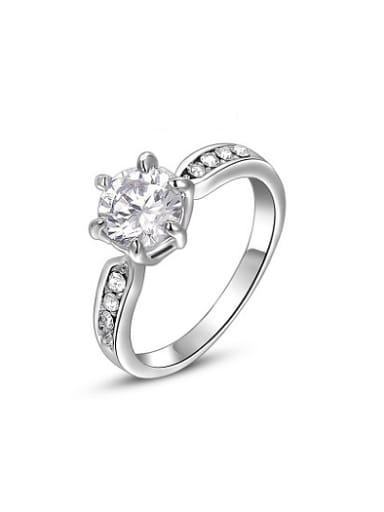 ROXI Europe selling jewelry jewelry authentic Austria Crystal Platinum diamond ring six claws