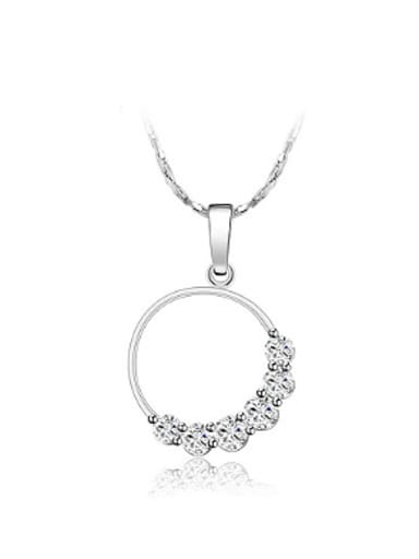 Fashion Round Zircon Women Necklace