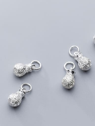 925 Sterling Silver With Silver Plated Cute Irregular Charms