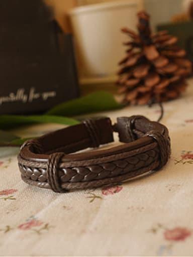 Retro Adjustable Cownhide Leather Bracelet