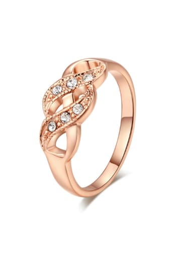 Twisted Lines New Design Daily Copper Ring