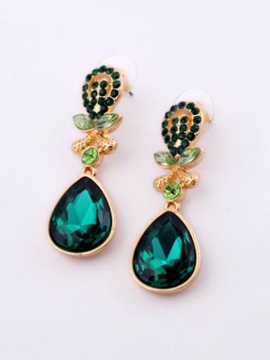Alloy Fashion Zircon Water drop earring