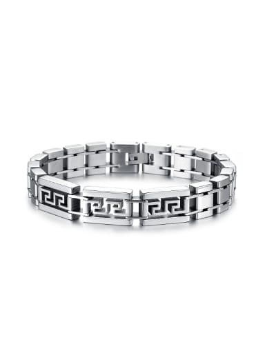 Personalized Hollow Titanium Men Bracelet