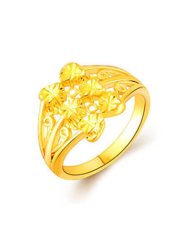 High Quality 24K Gold Plated Heart Shaped Ring
