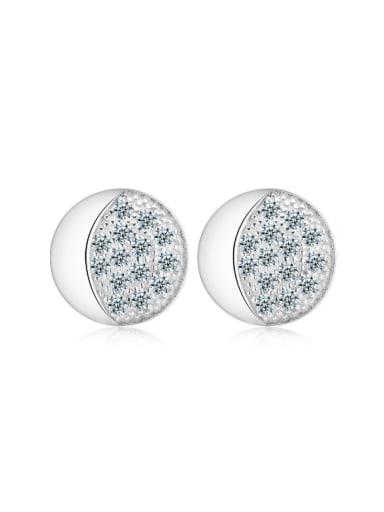 Creative Car's Light Zircons Stud Earrings