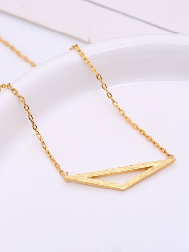 Women Wooden Triangle Shaped Necklace