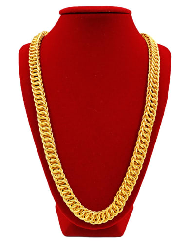 24K Gold Plated Circles Necklace