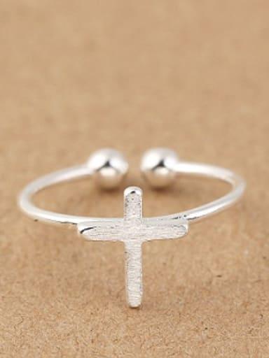 Cross Opening Midi Ring