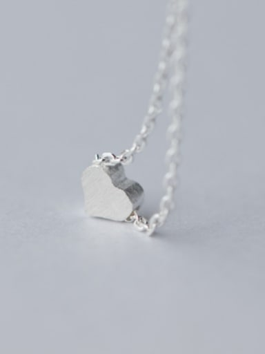 S925 Silver Sweet Heart Shape Necklace