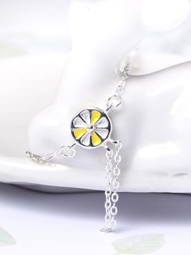 Fashion Lemon Simple Silver Bracelet