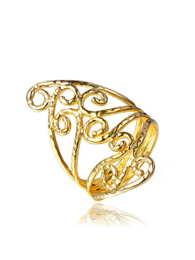 Personality 18K Gold Plated Tree Vine Shaped Ring