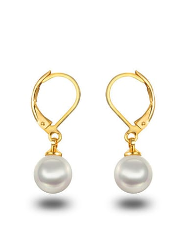 Fresh Korean Style Artificial Pearl Drop Earrings
