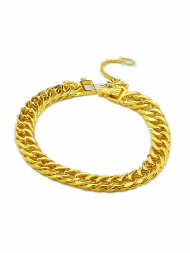 Men Exquisite 24K Gold Plated Geometric Shaped Bracelet