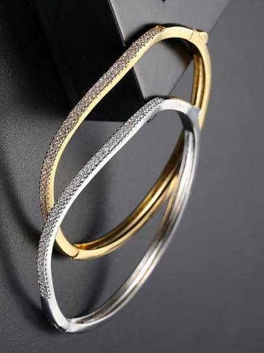 Copper inlaid AAA zircon personality gold special bracelet